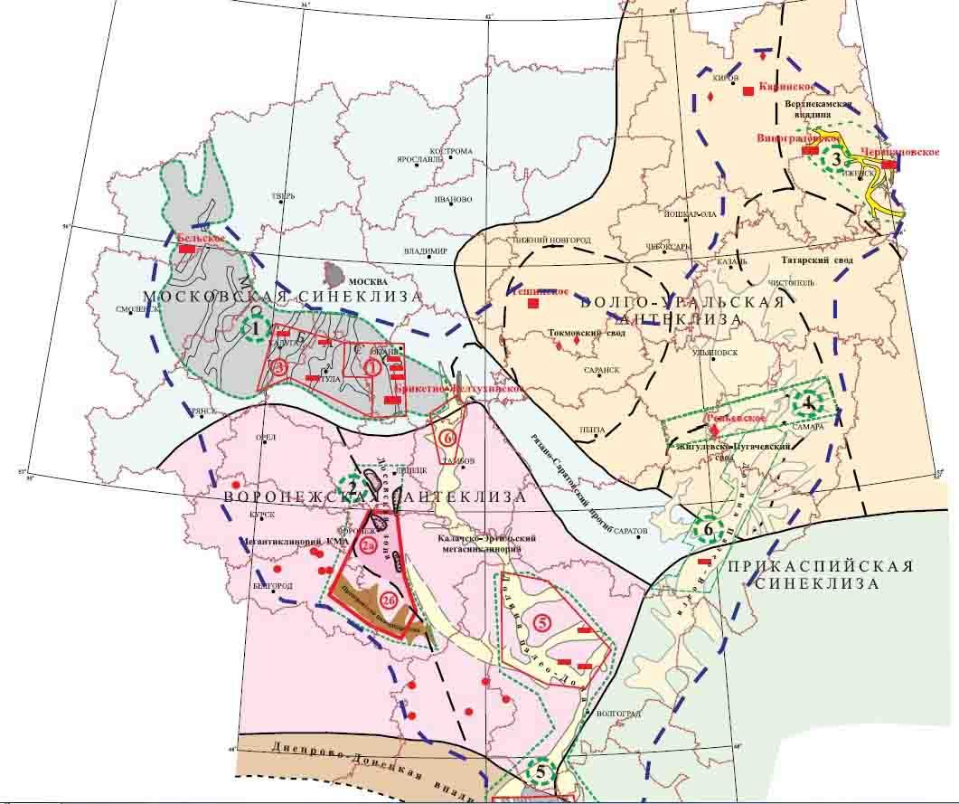 Земельные участки над месторождениями
